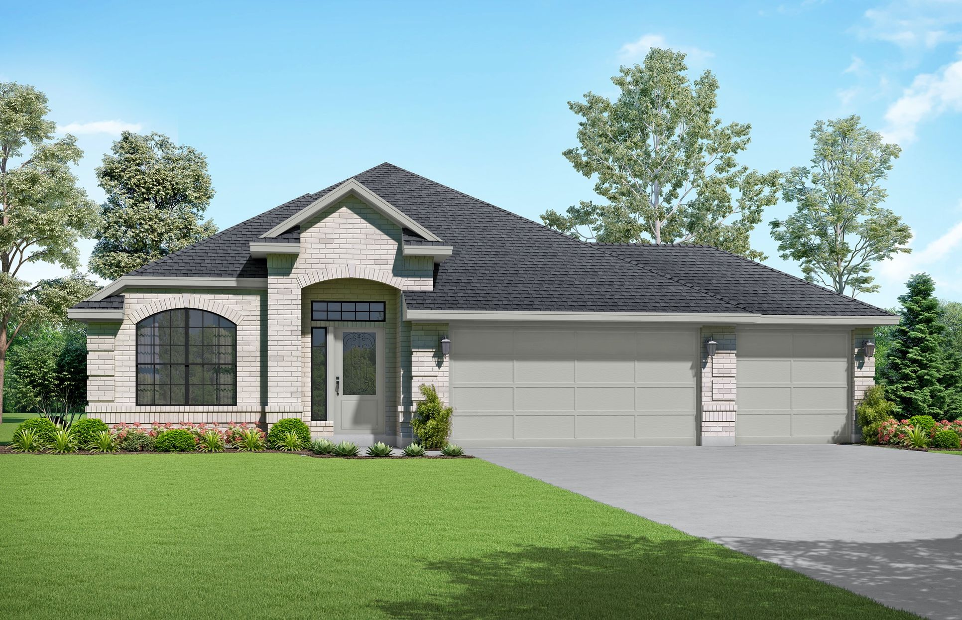 Sonya Elevation A. Images are artist renderings and will differ from the actual home built.:Sonya Elevation A