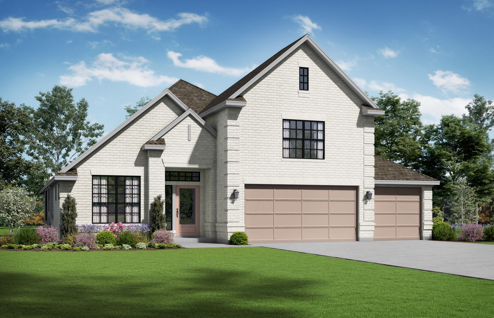 Caroline Elevation A. Images are artist renderings and will differ from the actual home built.:Caroline Elevation A