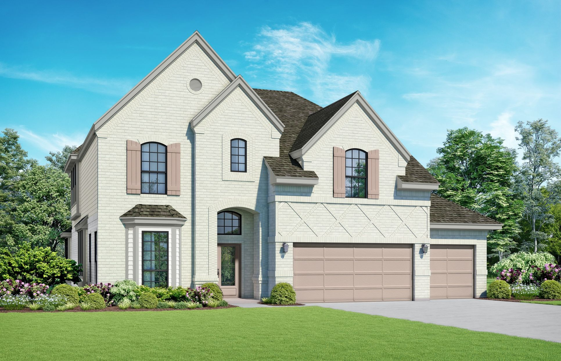 San Patricia Elevation A. Images are artist renderings and will differ from the actual home built.:San Patricia Elevation A