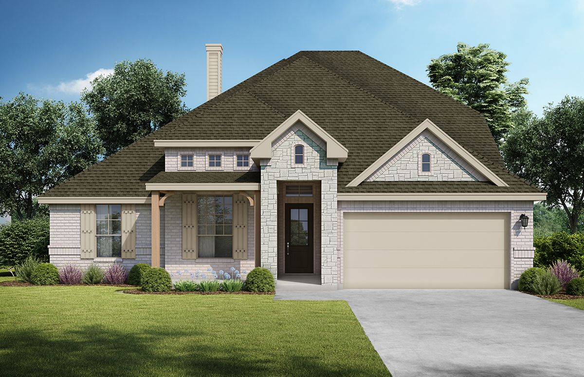 Aspen - San Antonio. Images are artist renderings and will differ from the actual home built.:Aspen - San Antonio