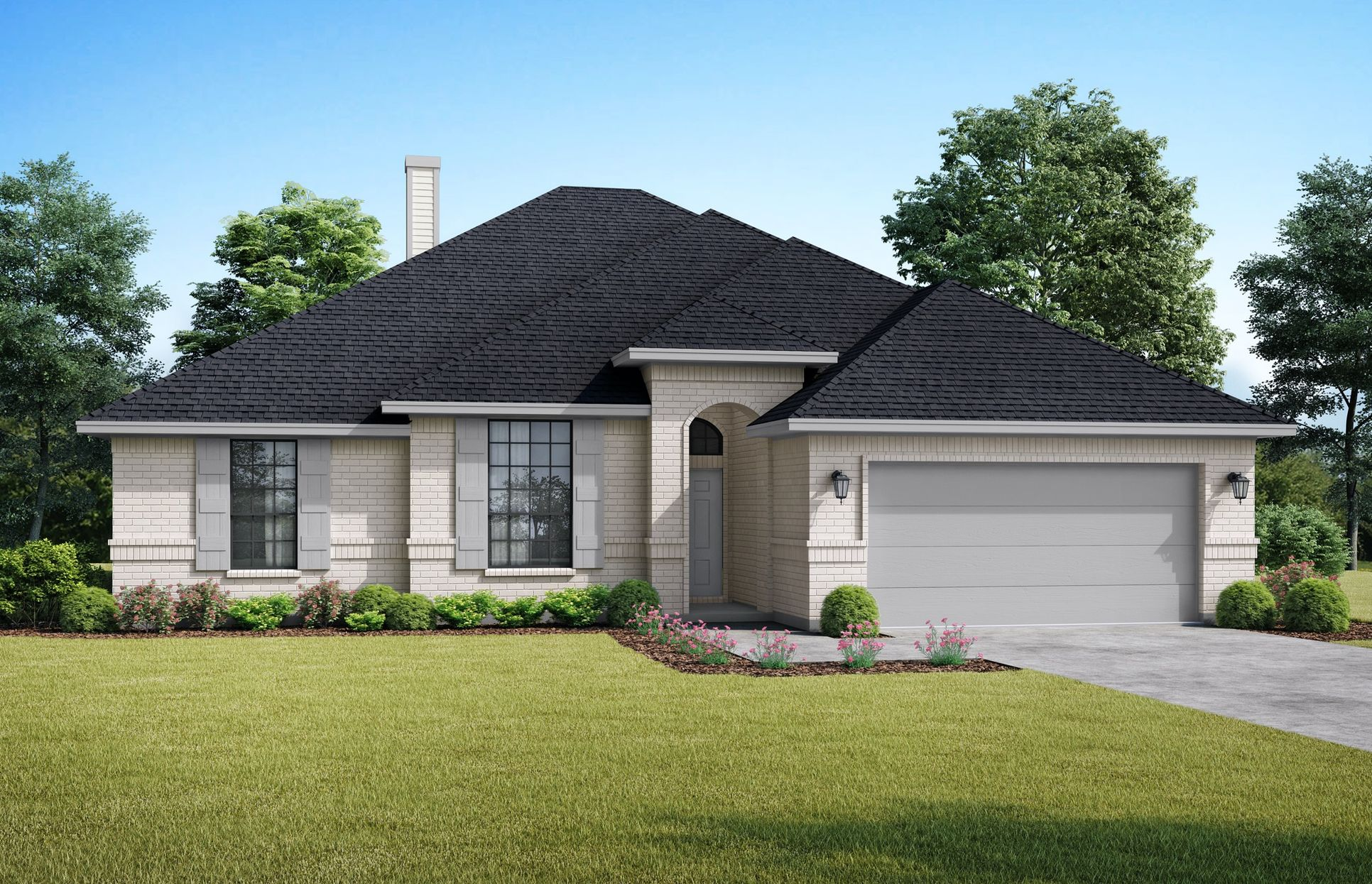 The Denver: Elevation A. Images are artist renderings and will differ from the actual home built.:Elevation A