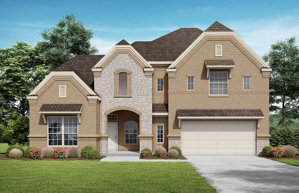 Glorietta Elevation A. Images are artist renderings and will differ from the actual home built.:Elevation A