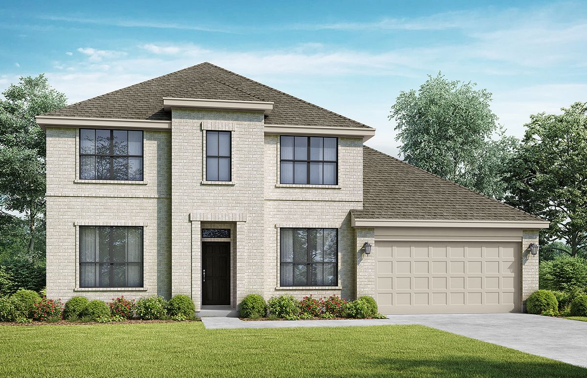 The Willow - Elevation A. Images are artist renderings and will differ from the actual home built.:Elevation A