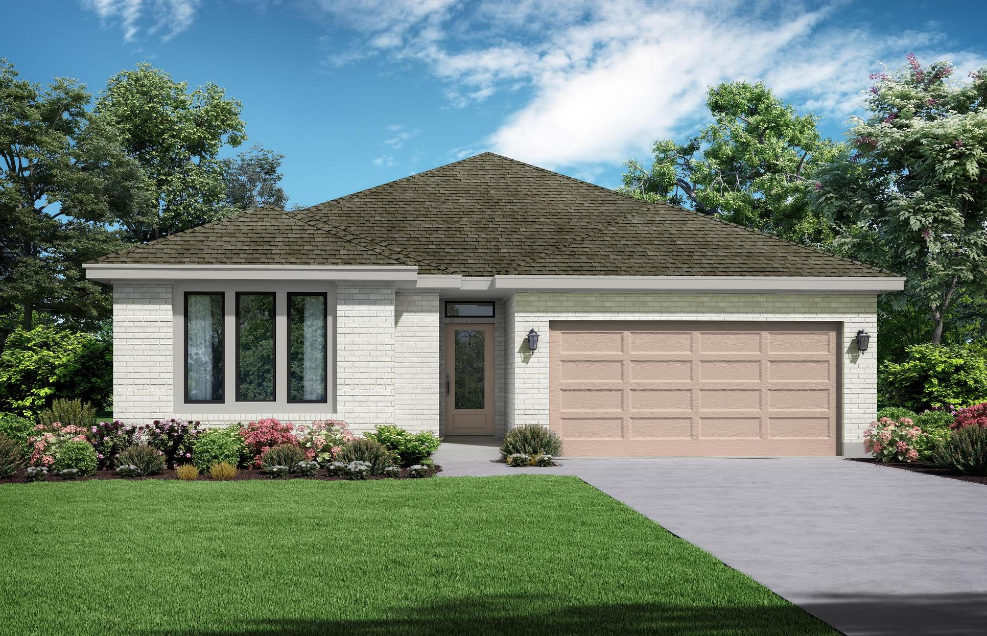 Cottage - Elevation A. Images are artist renderings and will differ from the actual home built.:The Cottage