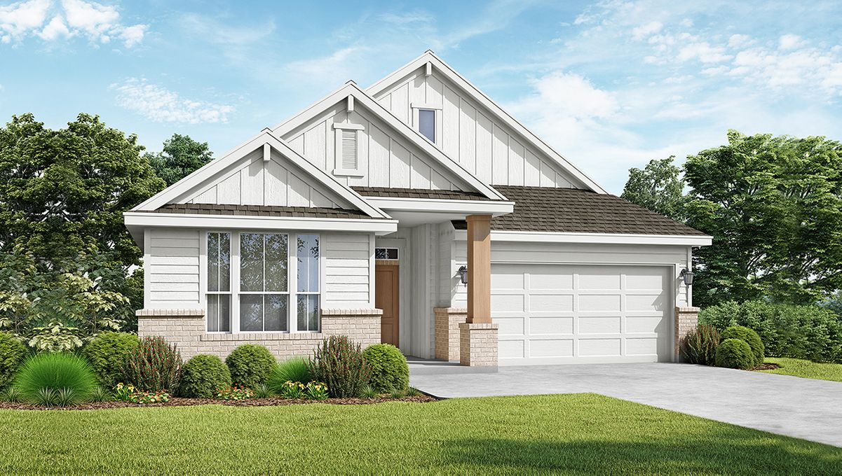 The Collin - Elevation C. Images are artist renderings and will differ from the actual home built.:The Collin - Elevation C