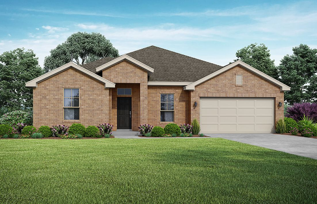 Holly Elevation A. Images are artist renderings and will differ from the actual home built.:Elevation A