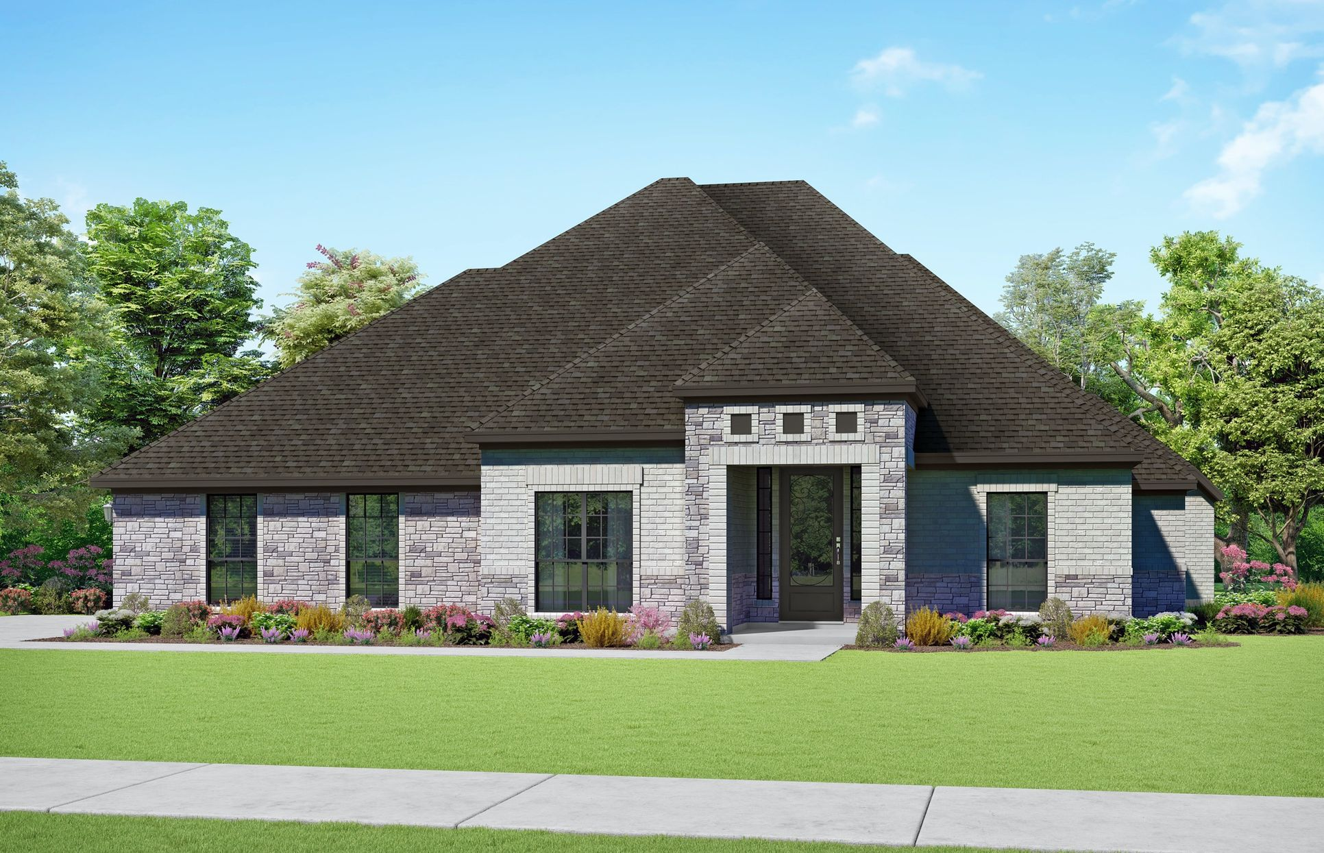 Jennings Elevation S1. Images are artist renderings and will differ from the actual home built.:Jennings Elevation S1