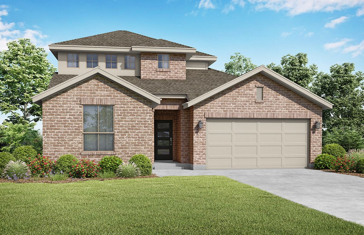Wimberly - Elevation A. Images are artist renderings and will differ from the actual home built.:Elevation A