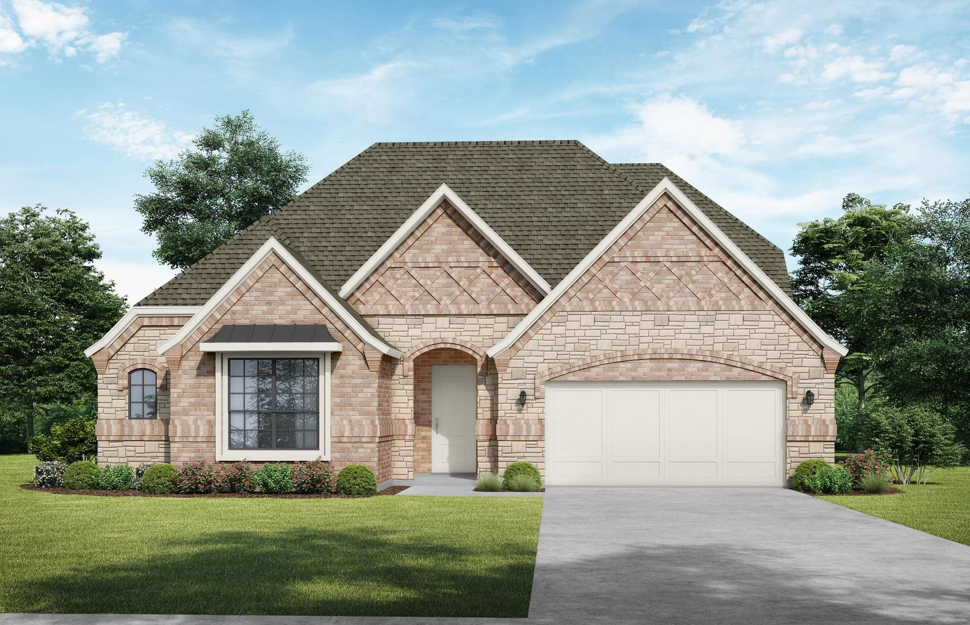 Bellvue Elevation B. Images are artist renderings and will differ from the actual home built.:Bellvue Elevation B