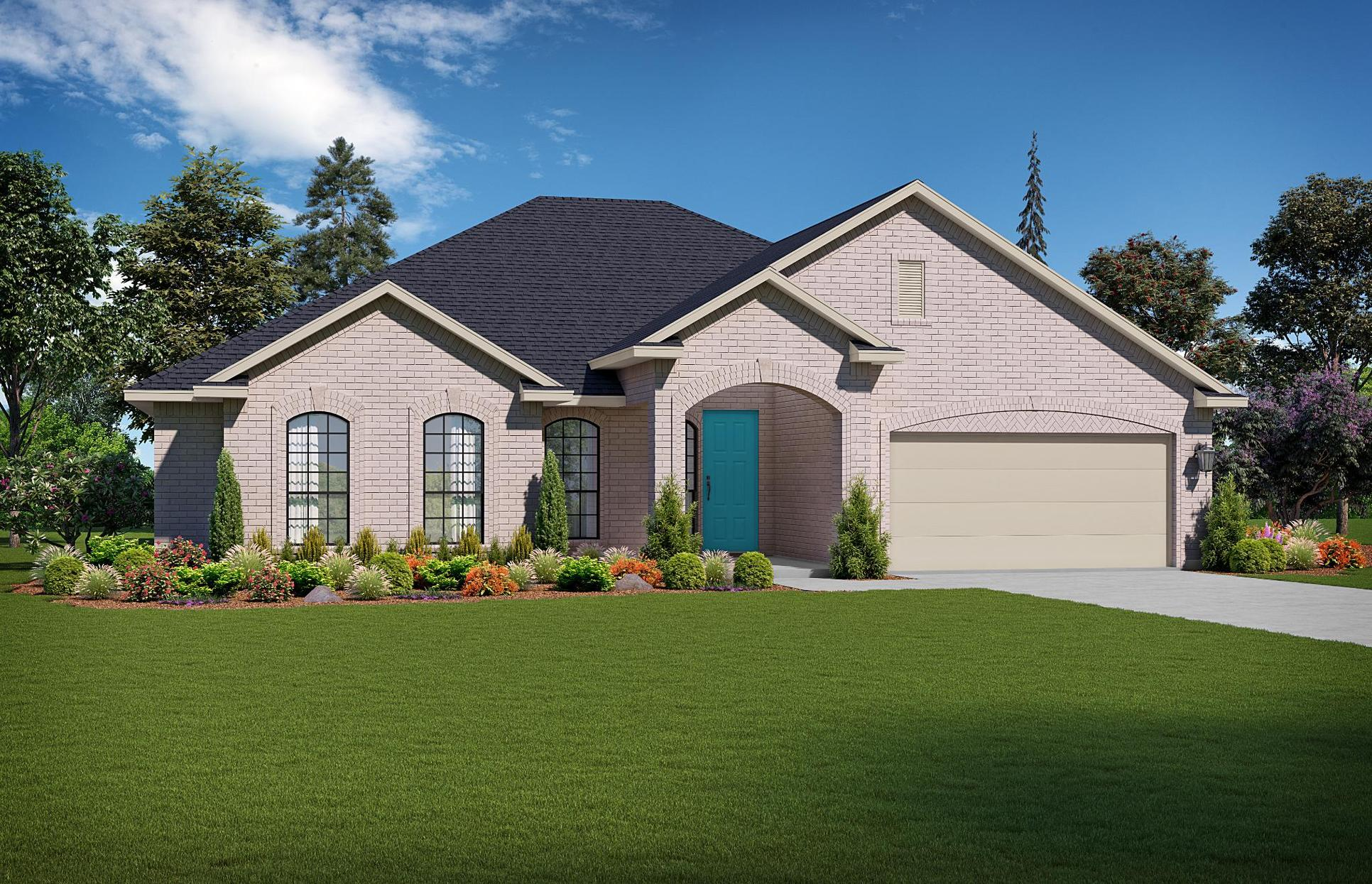 The Coryell Elevation B - Brick.  Images are artist renderings and will differ from the actual ho...:Elevation B