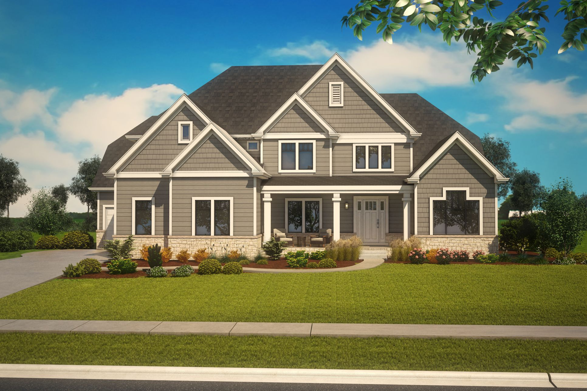 King's Court Builders:Linden Elevation A
