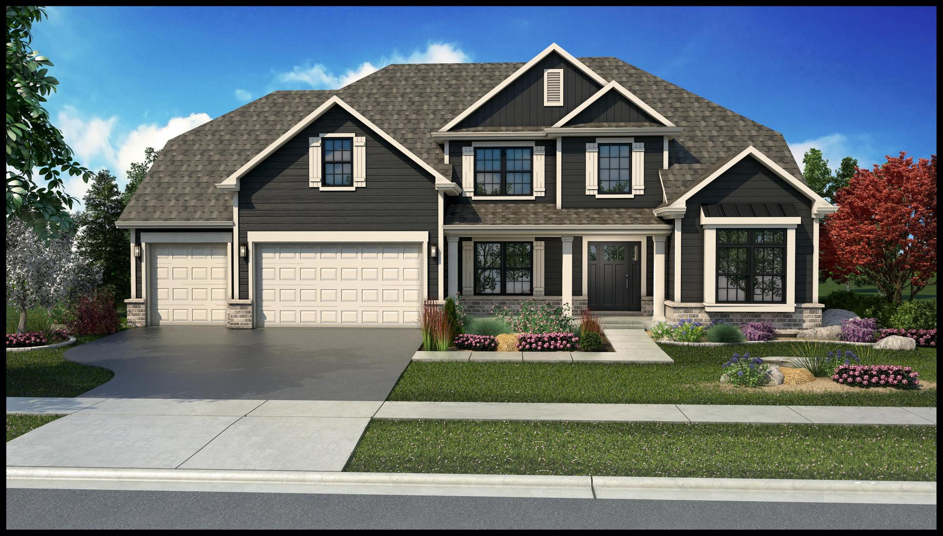 King's Court Builders:Brentwood Elevation