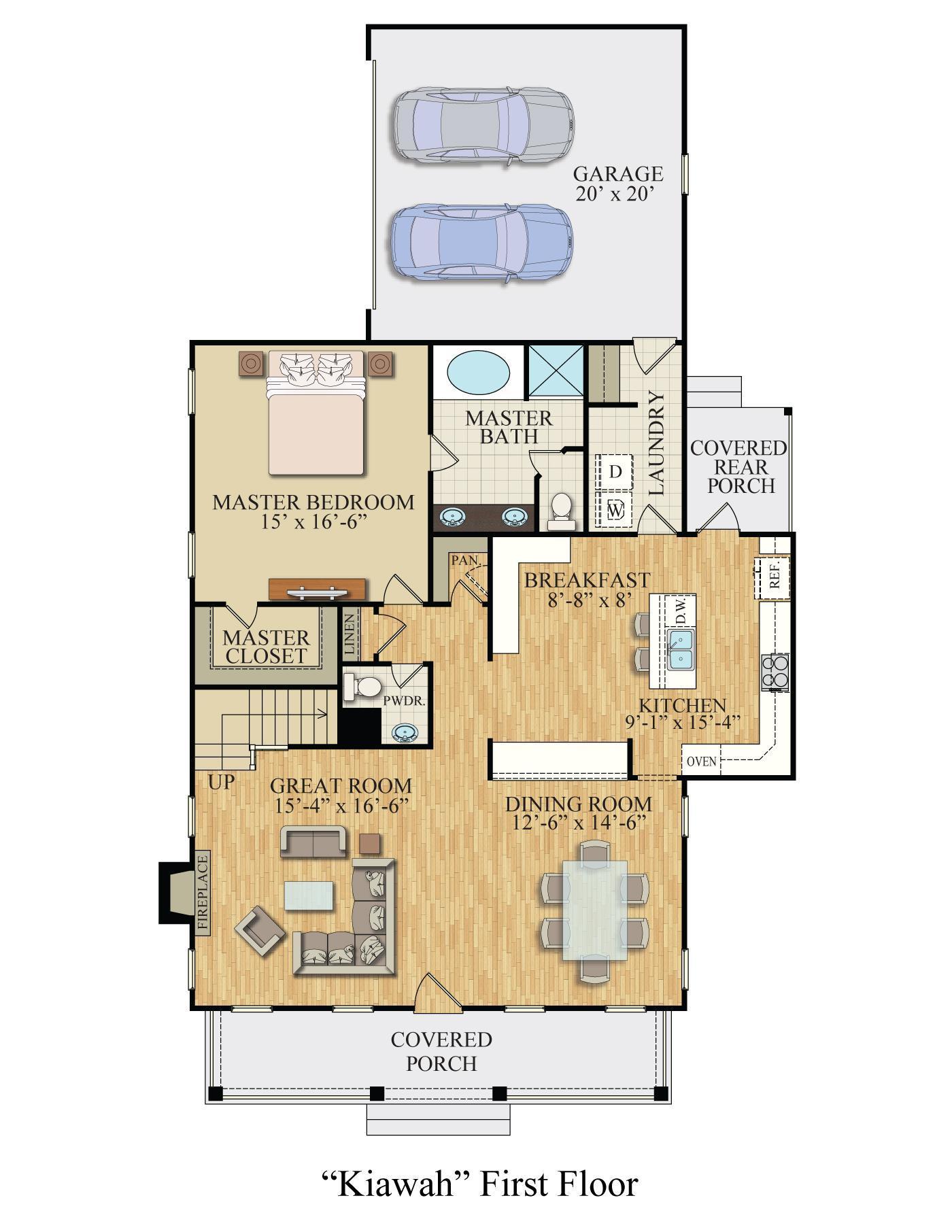 Floor Plan:Kiawah1