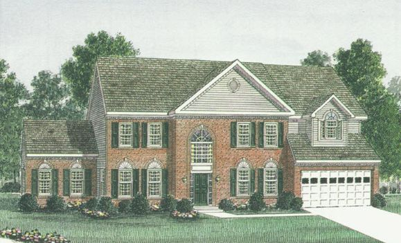 Elevation I:Shown with optional brick front and side run room