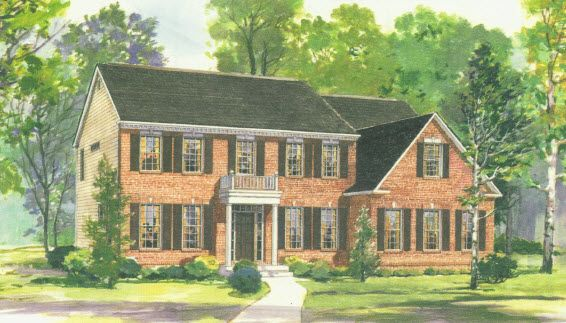 Elevation I:Shown with optional brick front, porch and side-entry garage