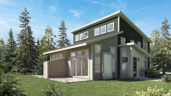 Buckhorn C Rendering:Welcome to the new Buckhorn paired cabins with expanded floor plans!
