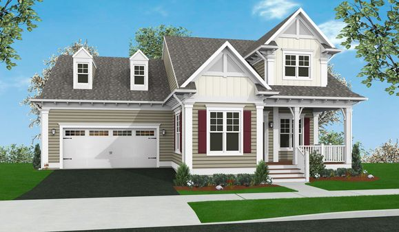 Exterior:Elevation B with Optional Features