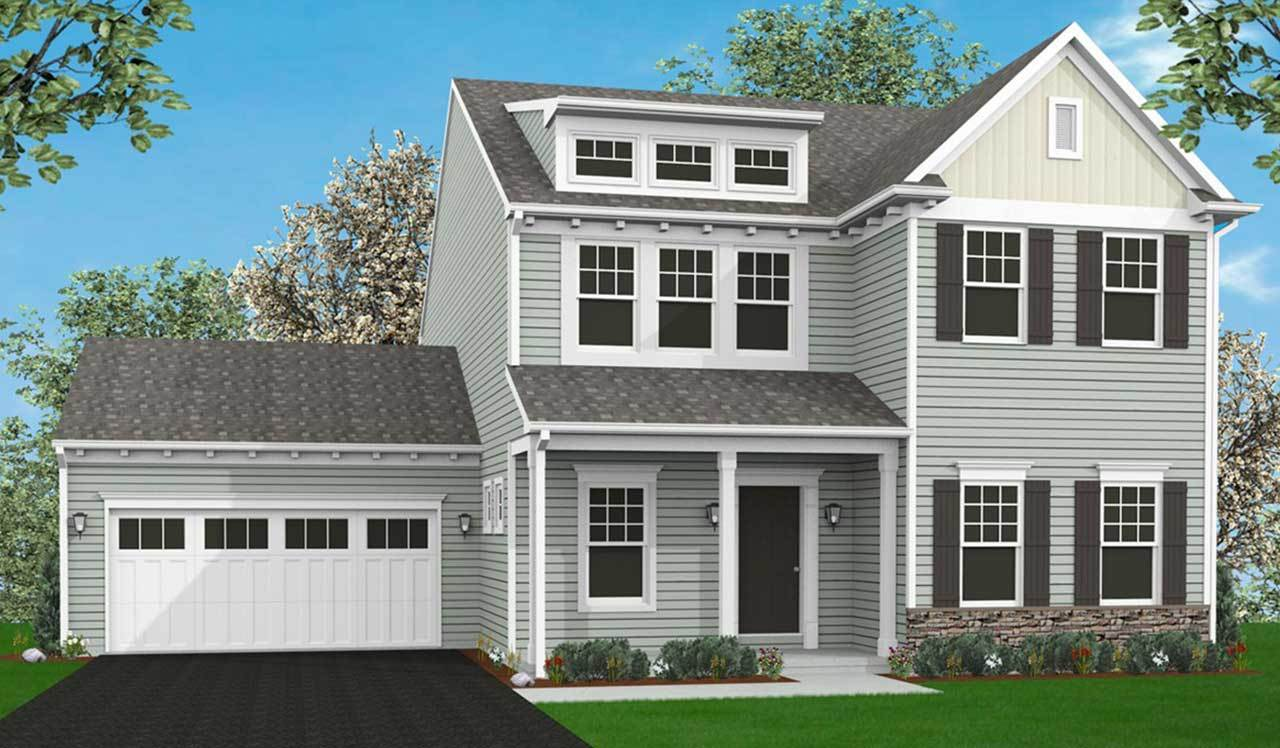 Exterior:Elevation A with optional features