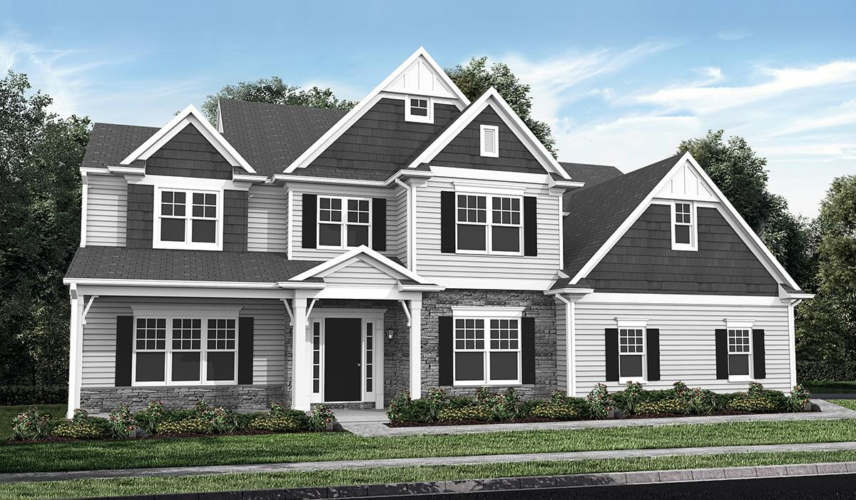 Exterior:Elevation D with optional features