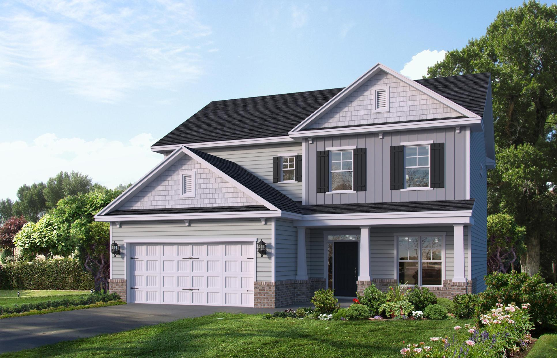 Dawson elevation C/LE:Le elevation is available in select Landmark 24 communities
