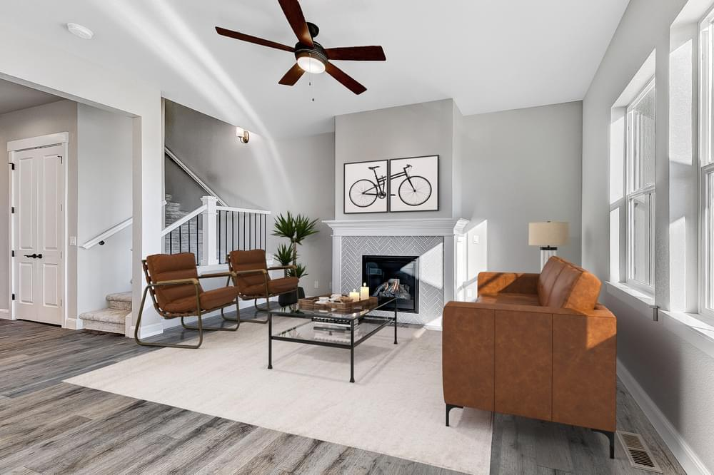 Interior:Living Room - Not Actual Home - Finishes Will Vary