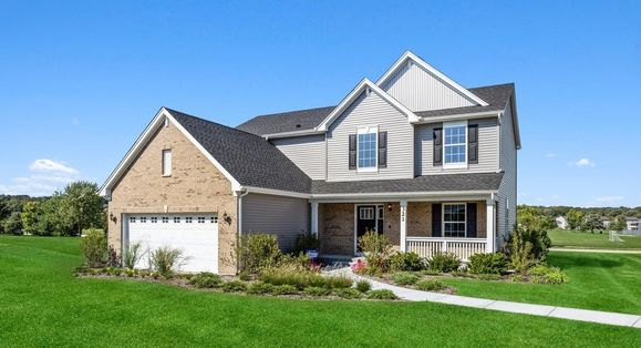 Victoria C shown with optional brick - Model Home