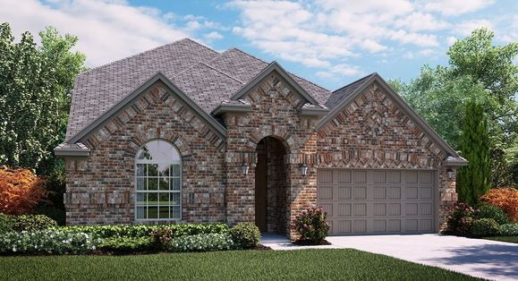 Granbury A Elevation with brick