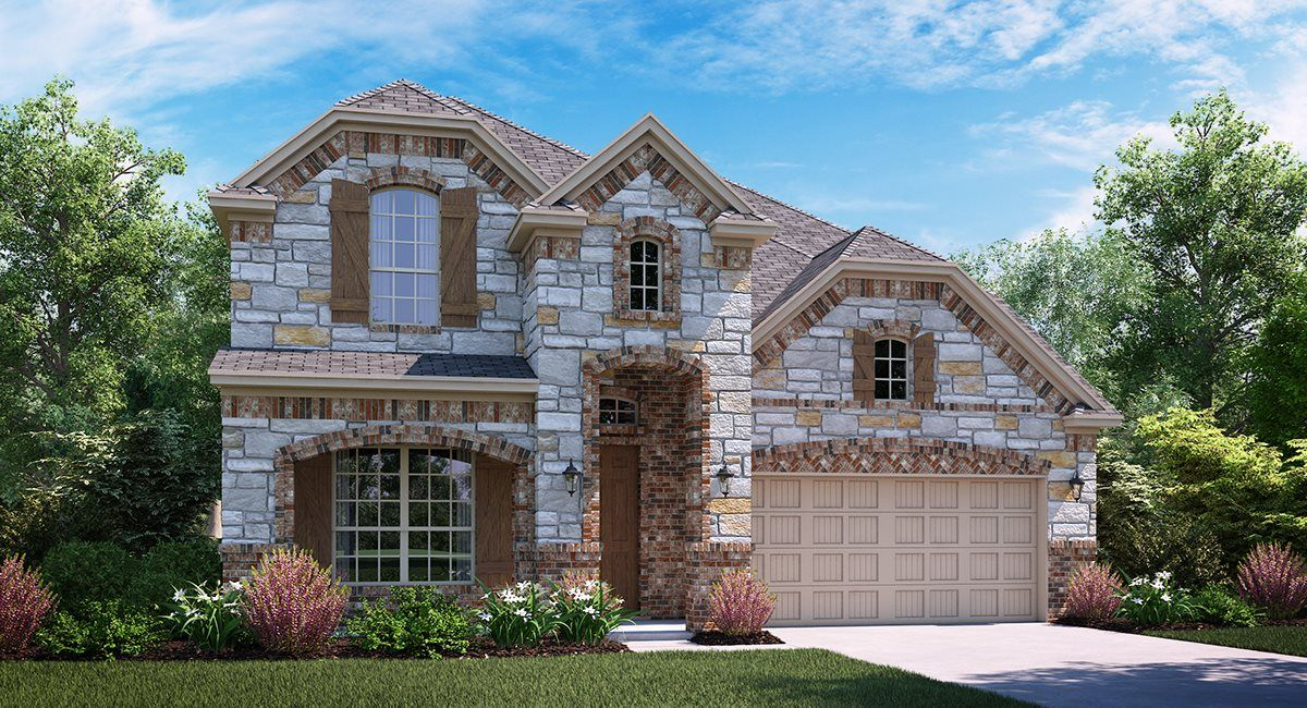 Livingstone C Elevation with brick and stone