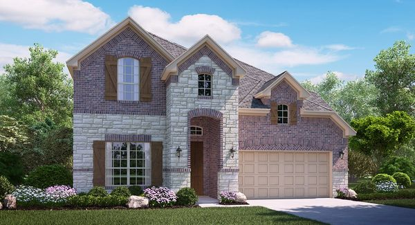Livingstone B Elevation with brick and stone