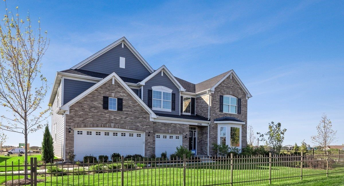 Newcastle C shown with optional brick - Model Home