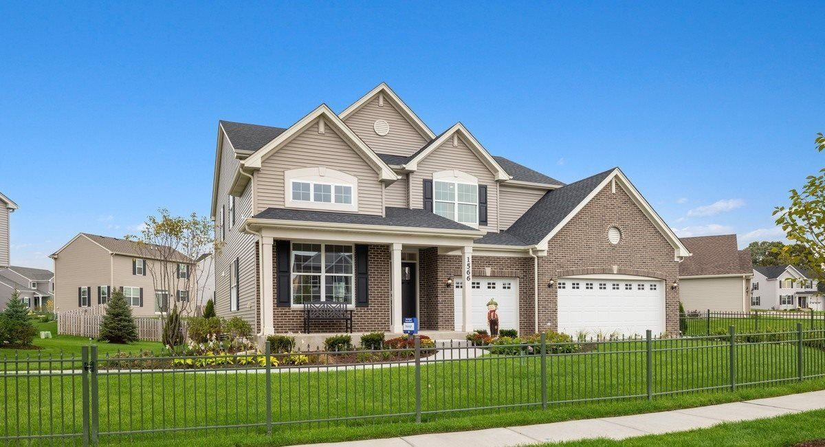 Raleigh C shown with optional brick - Model Home