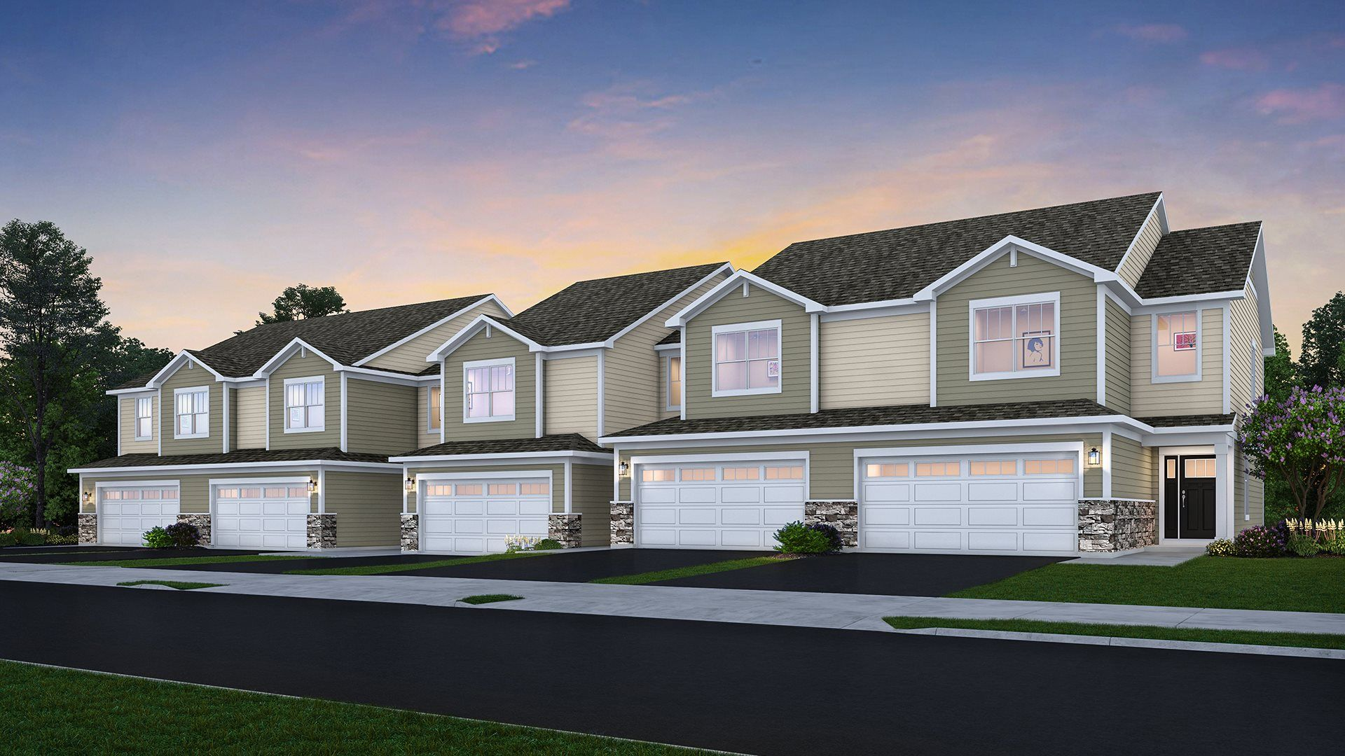 New Homes for sale in Mundelein, Illinois by Lennar featuring our Townhome Collection.