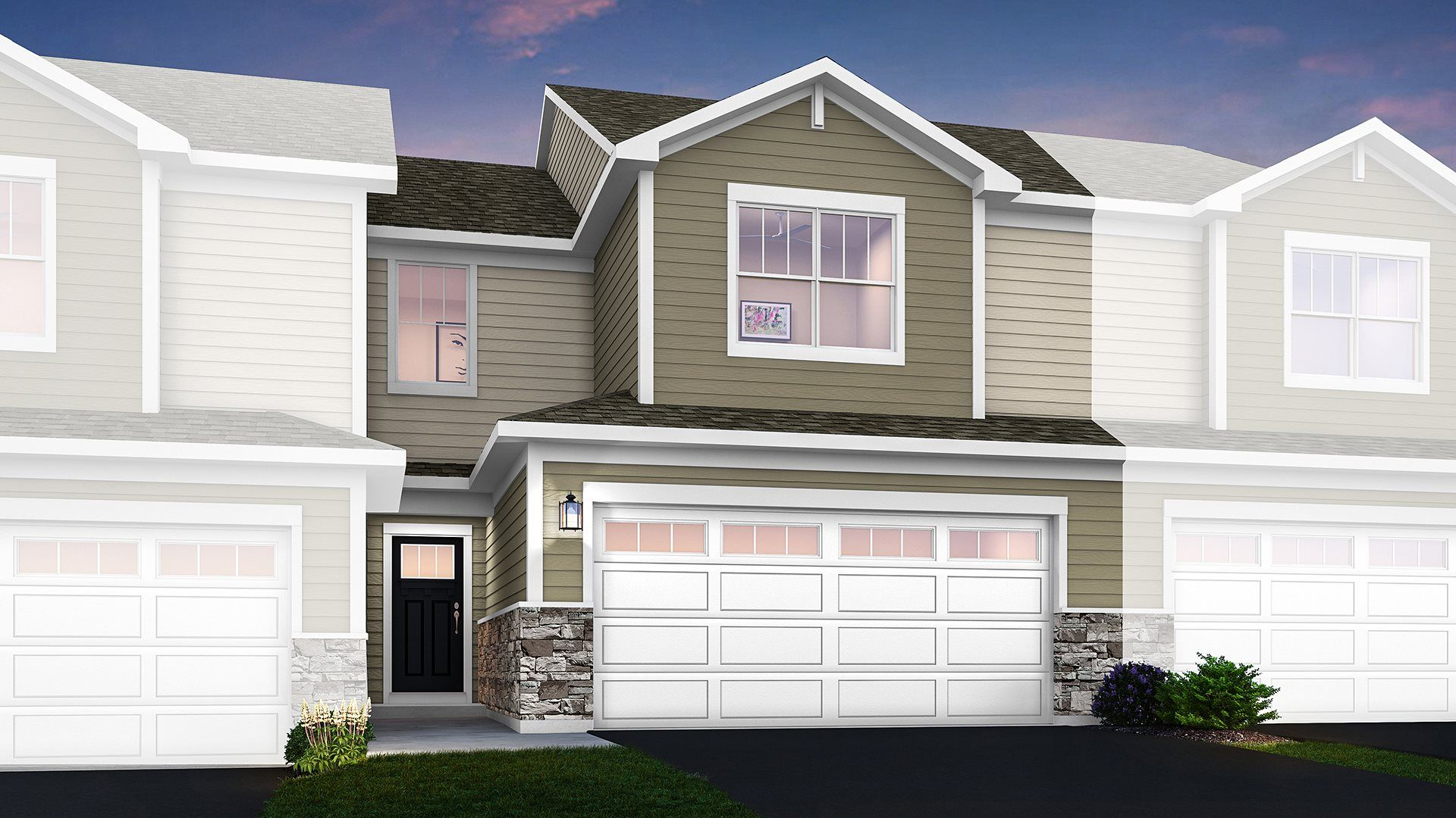Marianne floorplan with traditional exterior