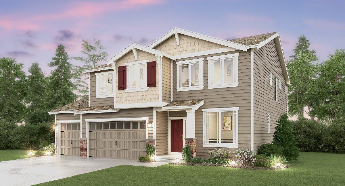 The Davenport 3-Car Home, B Elevation