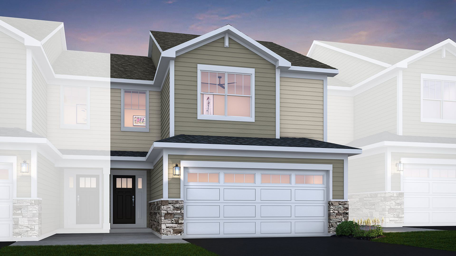 Charlotte floorplan with traditional exterior