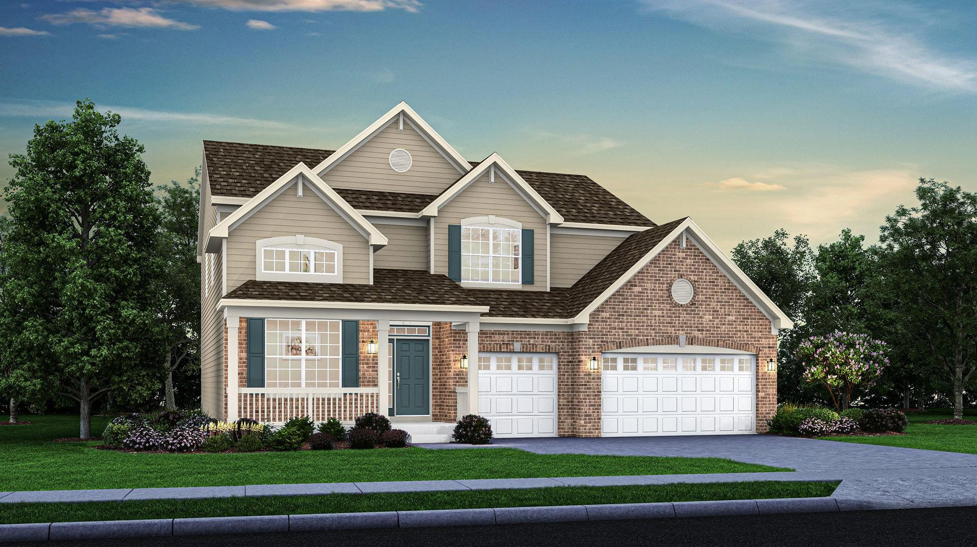 New Raleigh Homes for sale in Crown Pointe, Indiana by Lennar featuring our Single Family Collection