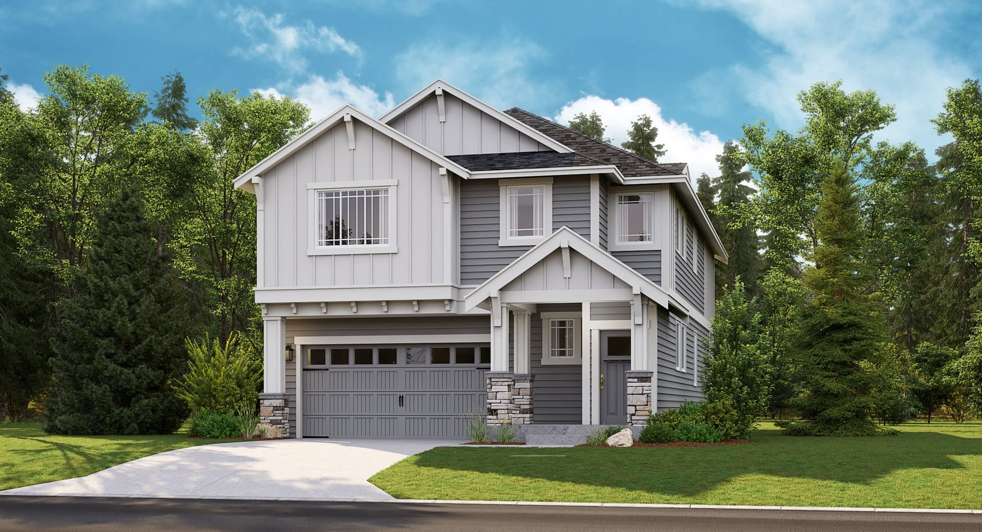The Magnolia home, B Elevation