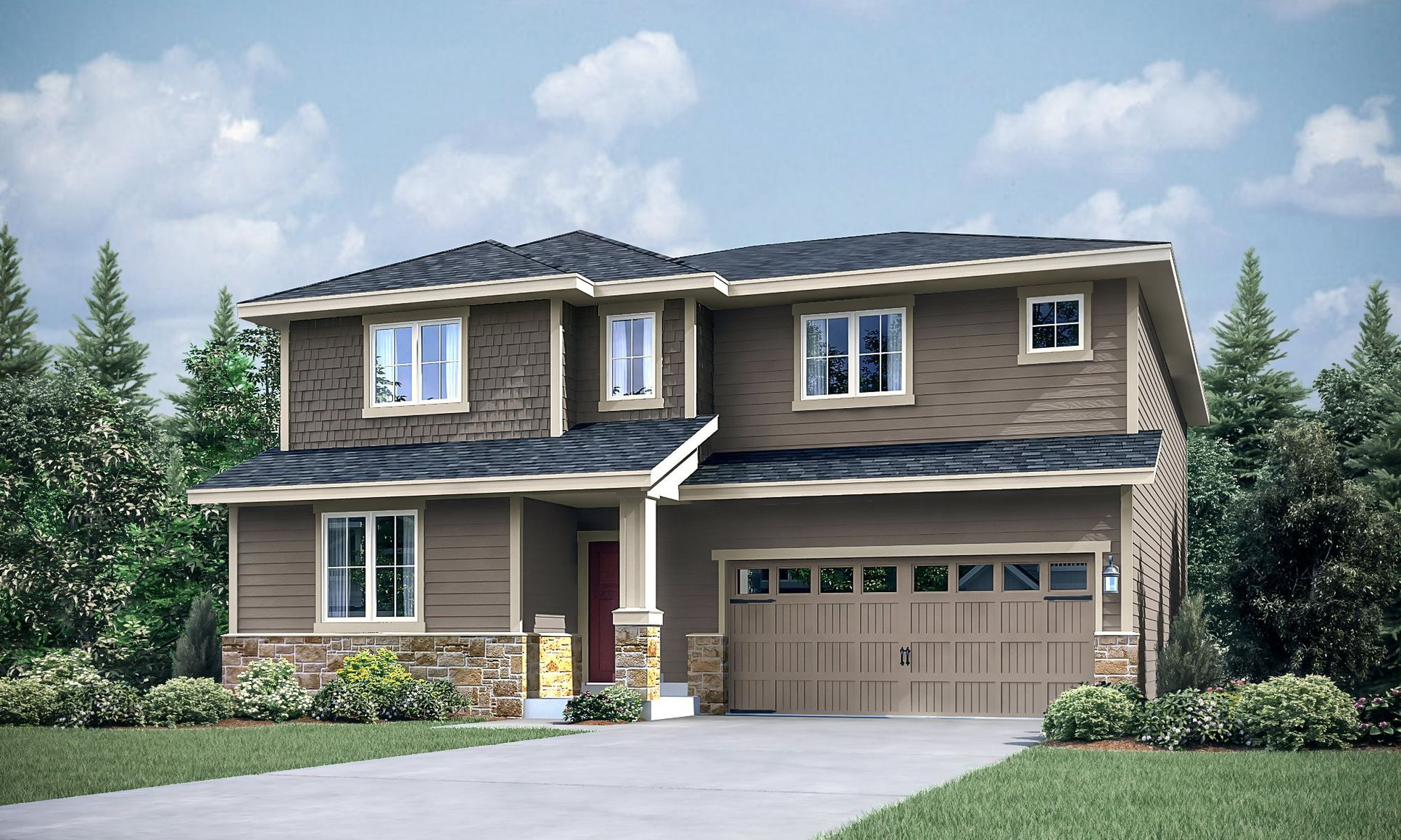 The Carnation home, Elevation C