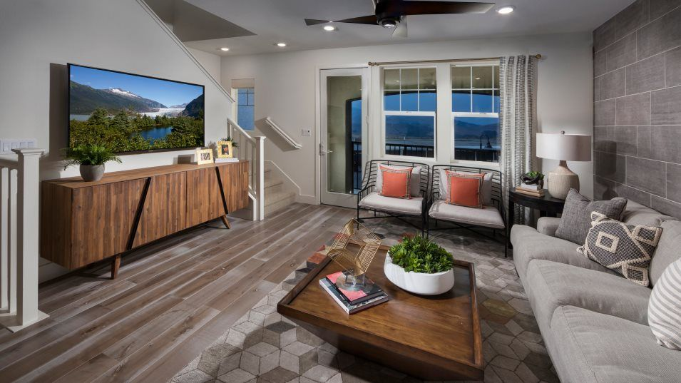 The Preserve Hillcrest Residence 2 Family Room:The spacious family room is on the second floor with plenty of room for movie and game nights with l