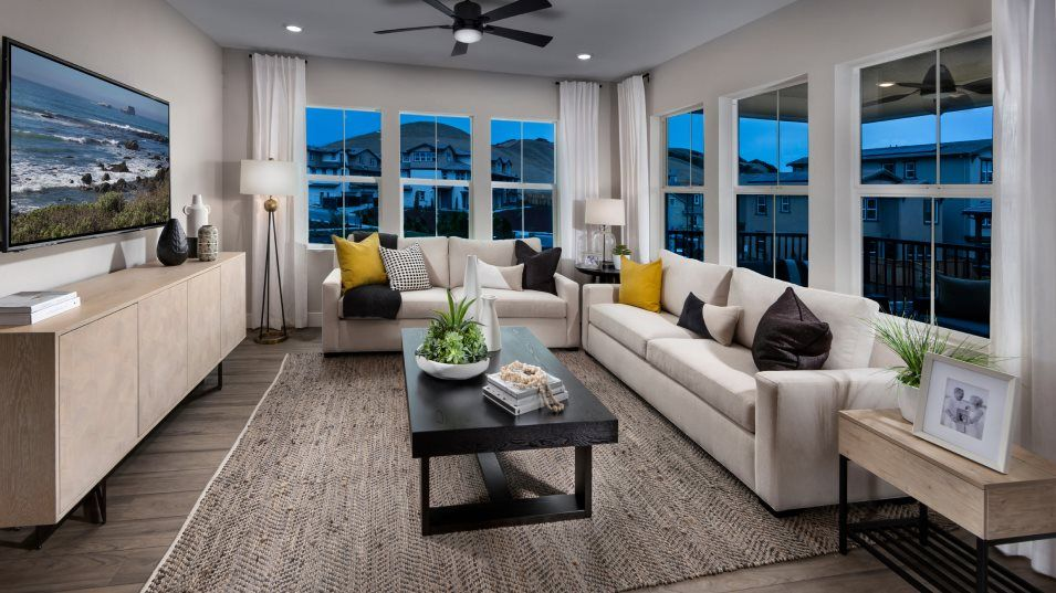 The Preserve Ridgeview Residence 2 Family Room:The sunny family room is centrally located among the open floorplan and naturally operates as the go