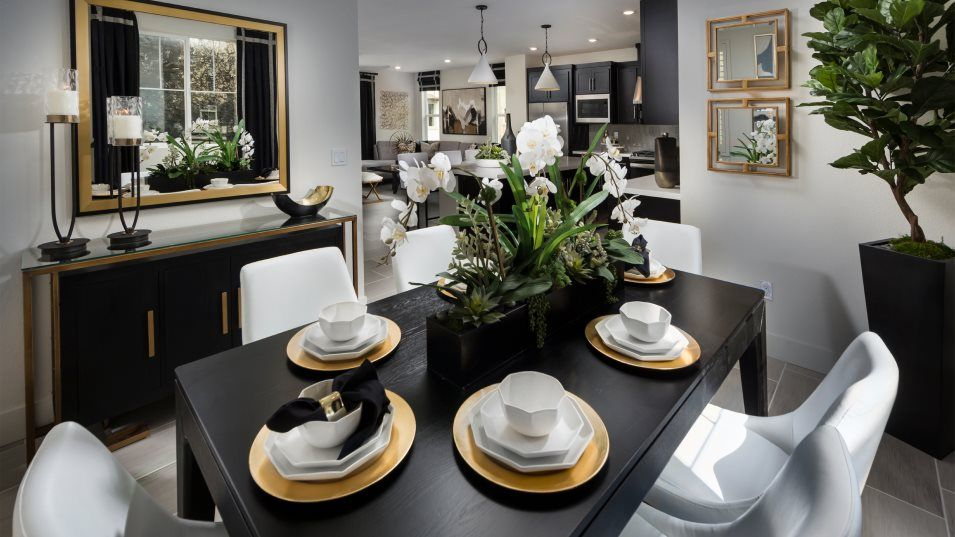 Bridgeway Villas Residence 2 Dining Room:Situated among the open floorplan, the dining room is an ideal space to enjoy everything from dinner