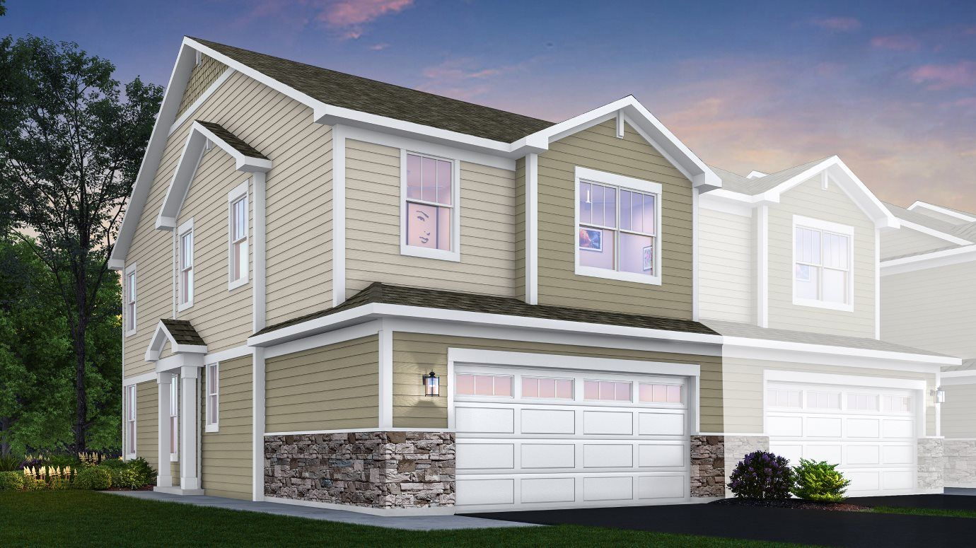 Crossings-of-Mundelein Traditional Townhomes Darcy
