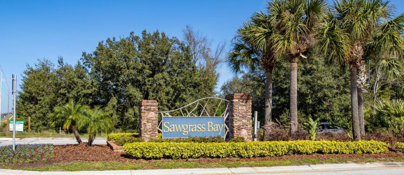 Sawgrass Bay Sign board