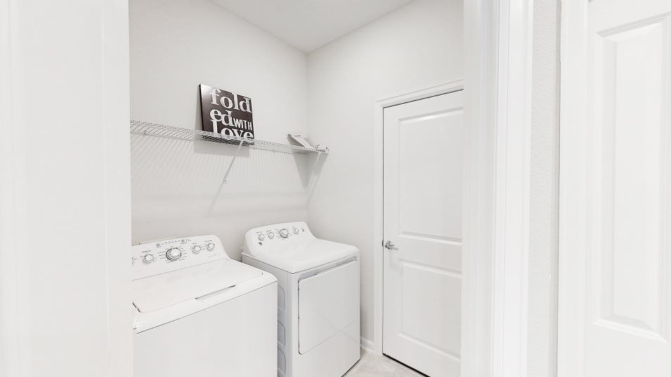 Liberty Ridge Freedom Laundry:The convenient laundry room comes equipped with a brand-new GE® washer and dryer.