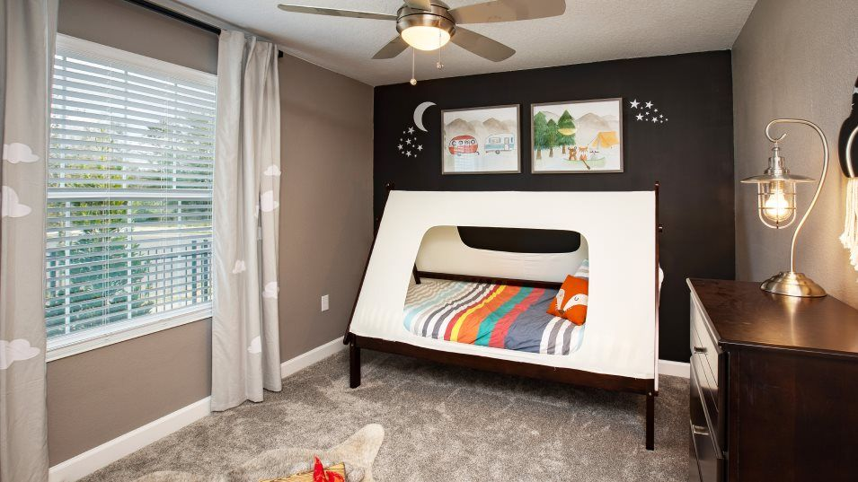 Estates at Lake Hammock Lucas Bedroom 4:All three secondary bedrooms are located at the front of the home and accessible off the foyer.
