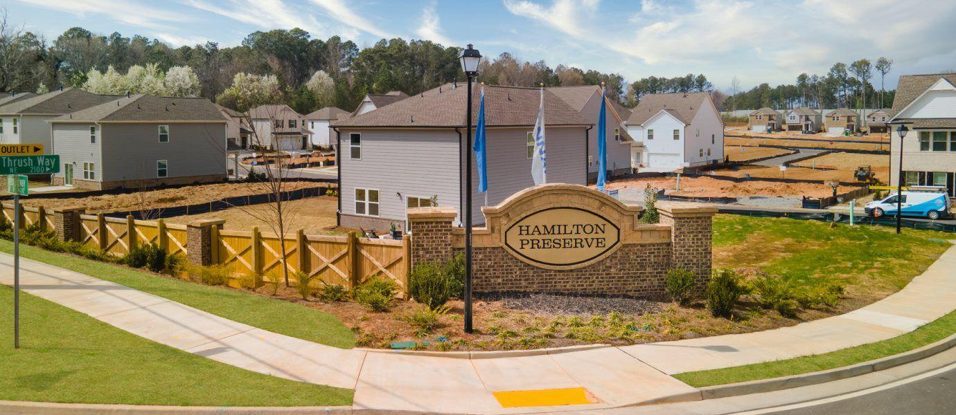 Hamilton Preserve Entrance