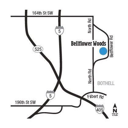 Bellflower Woods Locator Map