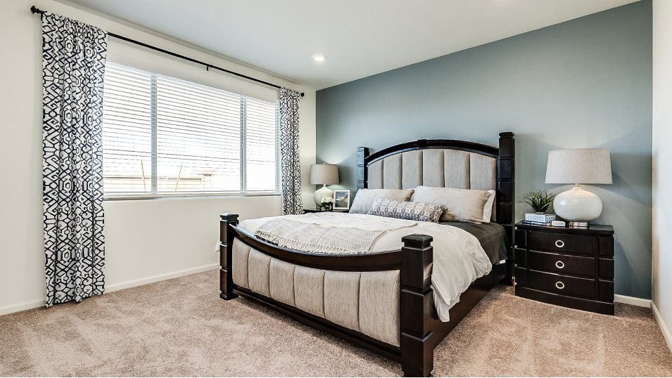 Mountain Vista Ridge 35s Collection Mesquite Owner:Nestled away in the back of the home, the owner's suite hosts a spacious bedroom with plush wall-to-