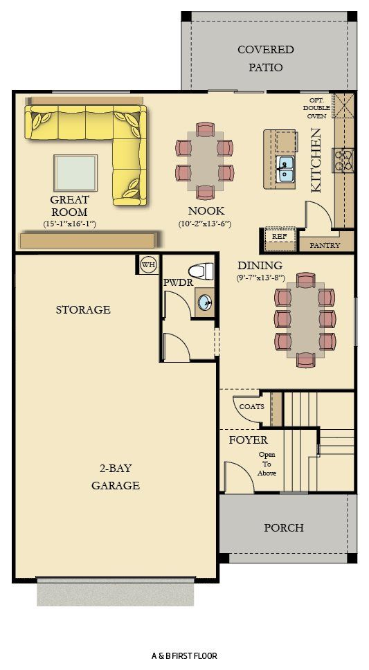 Elevation A & B - first floor - furnished