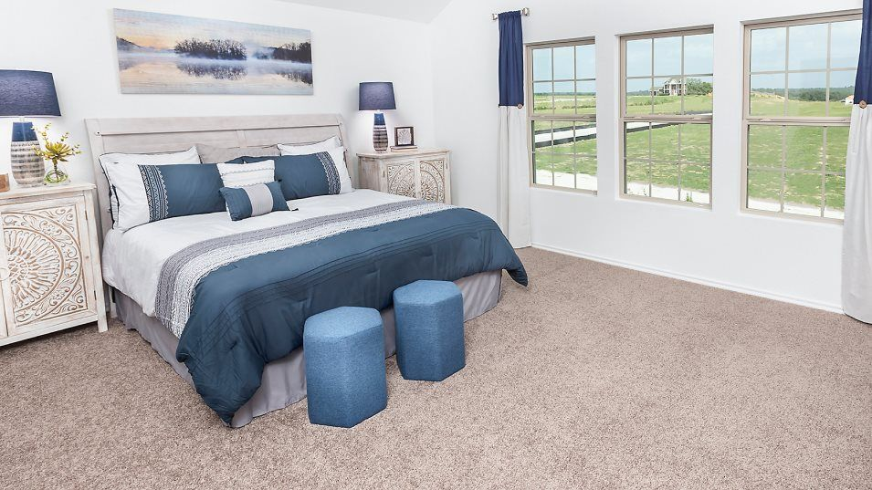Lake Breeze nuHome Collection La Mirada Owner's Su:A relaxing retreat, the owner's suite offers ample space among a generous bathroom and two expansive